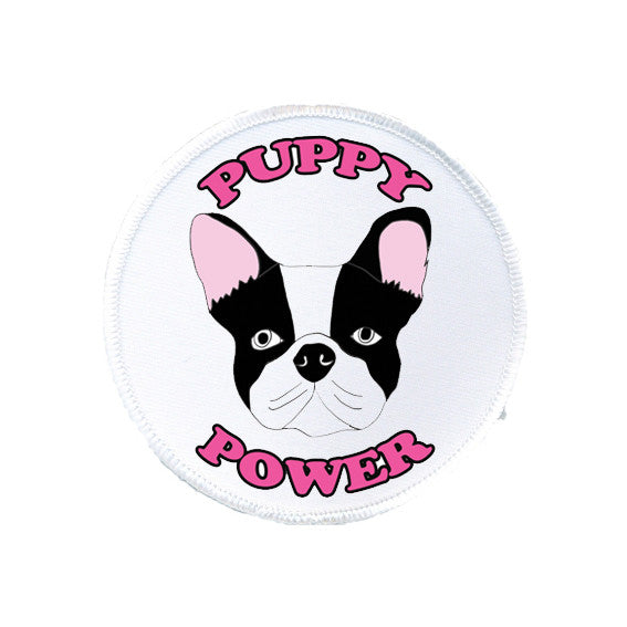 PUPPY POWER french bulldog dog puppy printed patch from LA LA LAND