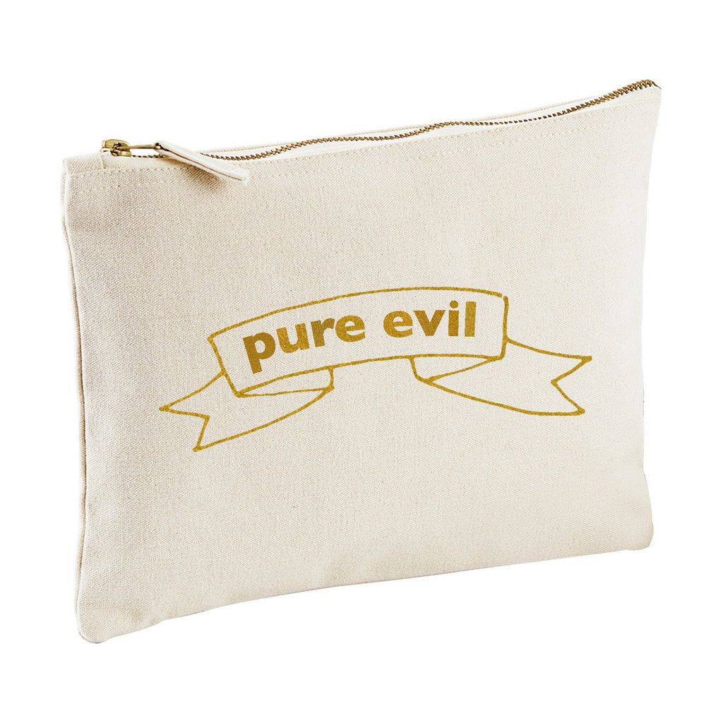PURE EVIL canvas clutch zipper pouch bag from LA LA LAND.jpg