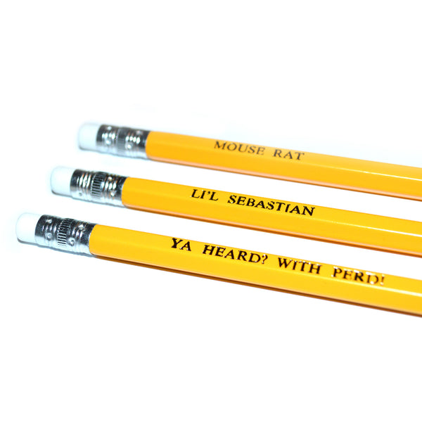 Parks and Recreation Hand Stamped Slogan POPCULT Pencil Set from LA LA LAND