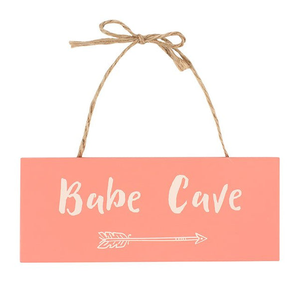 Peach Pink arrow babe cave wooden sign from LA LA LAND