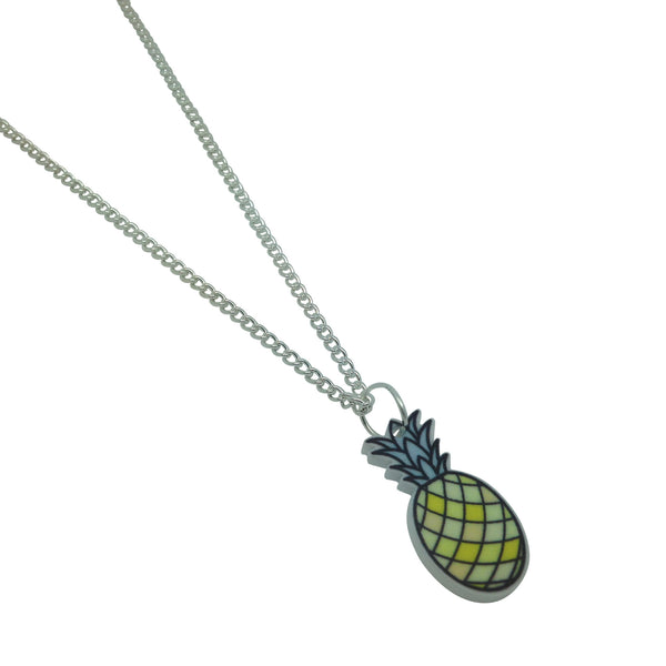 Pineapple Printed acrylic laser cut illustration Necklace from LA LA LAND