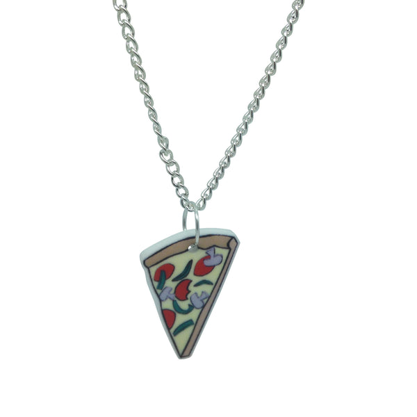 Pizza Slice Printed acrylic laser cut illustration Necklace from LA LA LAND