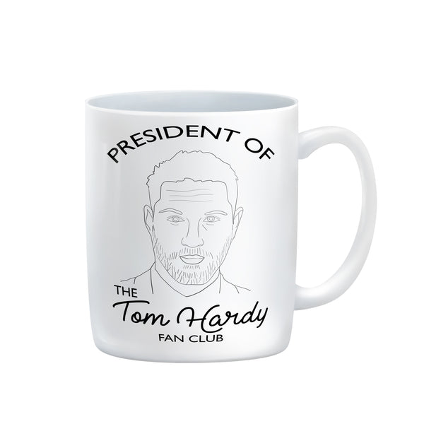 President of the Tom Hardy Fan Club mug from LA LA LAND