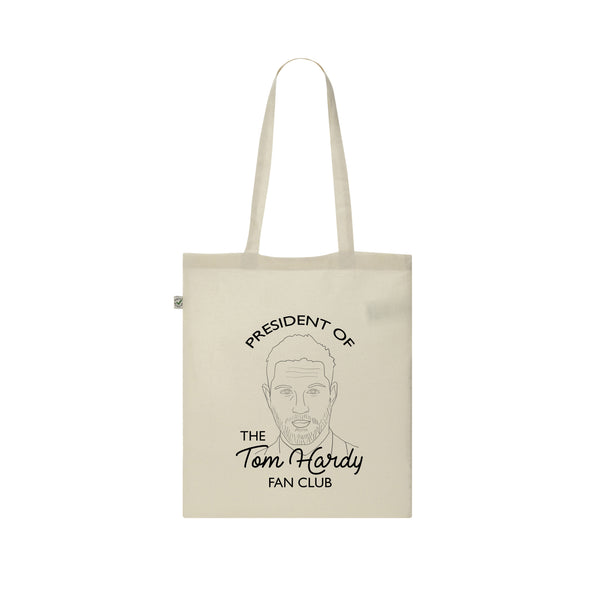 President of the Tom Hardy Fan Club tote bag from LA LA LAND