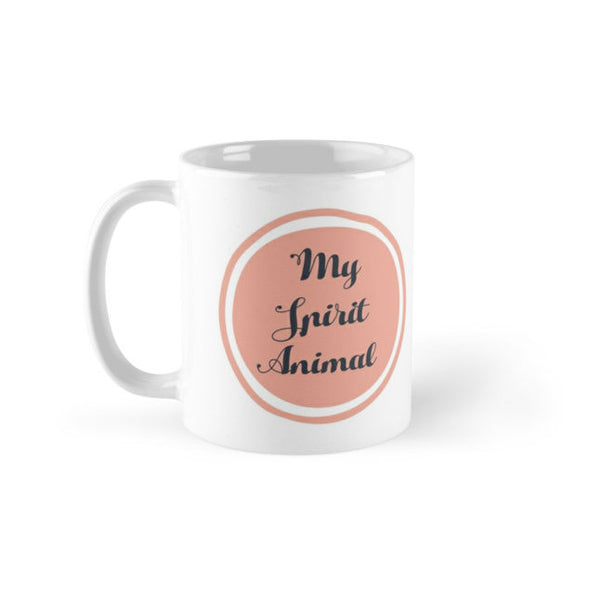 SLOTH is my spirit animal FLORAL pink MUG from LA LA LAND 2
