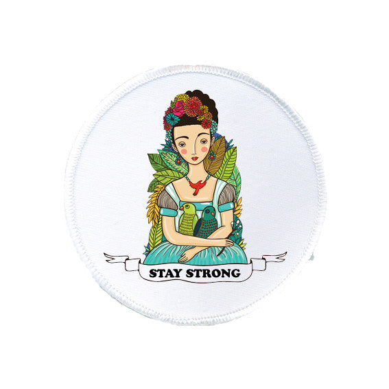 STAY STRONG feminist FRIDA KAHLO printed patch from LA LA LAND