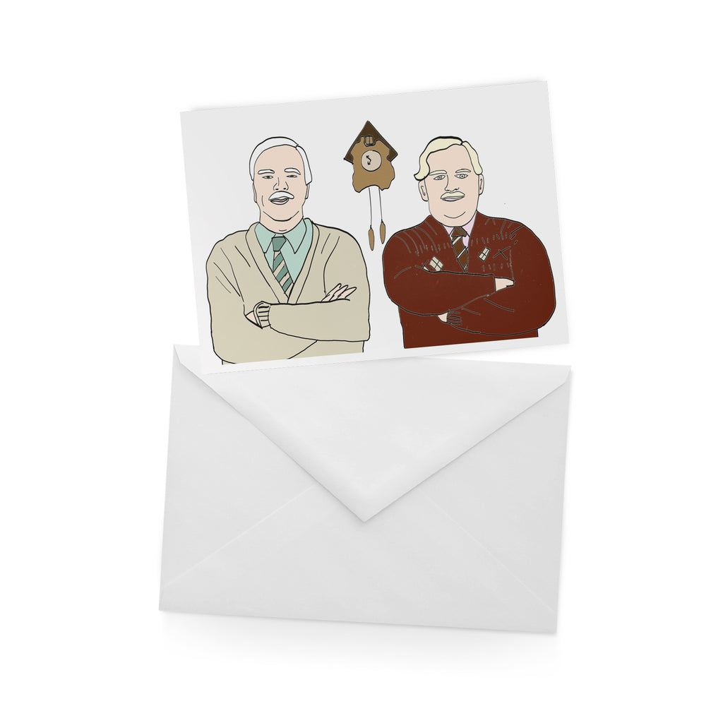 STILL GAME jack and victor greetings card from LA LA LAND