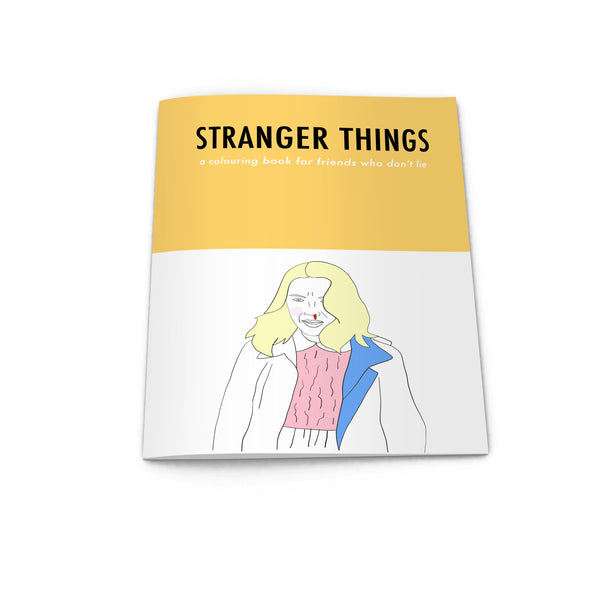STRANGER THINGS colouring book from LA LA LAND