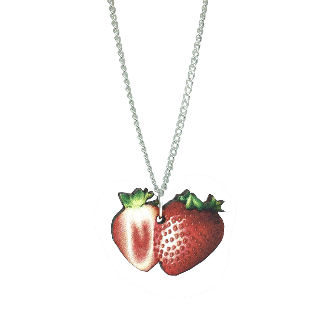STRAWBERRY WOODEN NECKLACE FROM LA LA LAND
