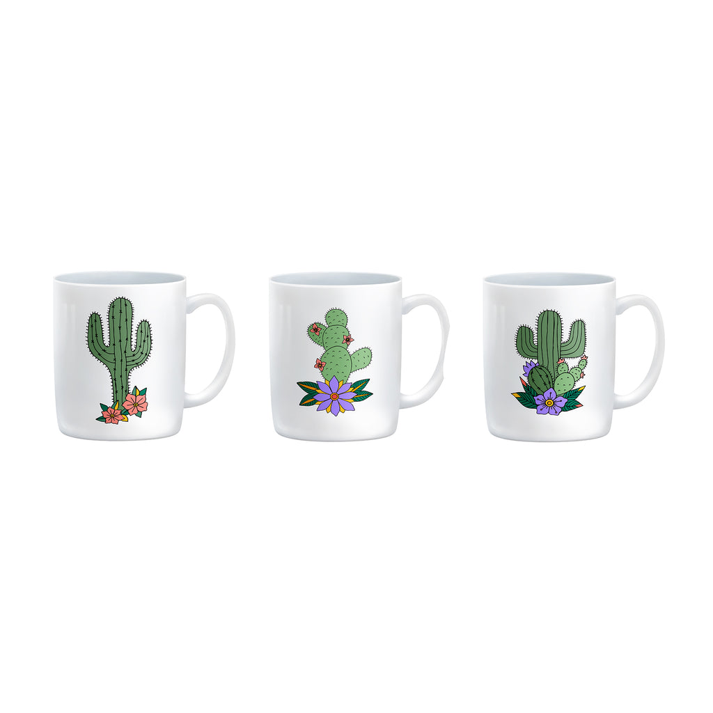 PACK OF THREE CACTI Mugs
