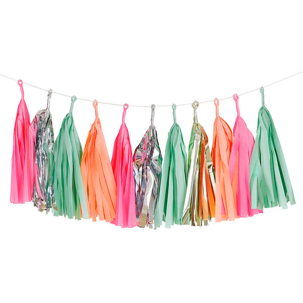 Sweet Shop Candy Colours PINK PEACH GOLD MINT SILVER party wall hanging Paper Garland BUNTING by Talking Tables from LA LA LAND 3
