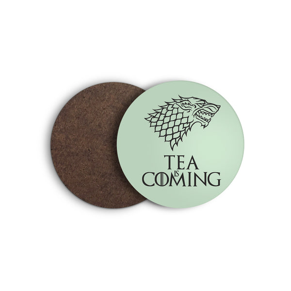 TEA IS COMING game of thrones STARK direwolf COASTER from LA LA LAND