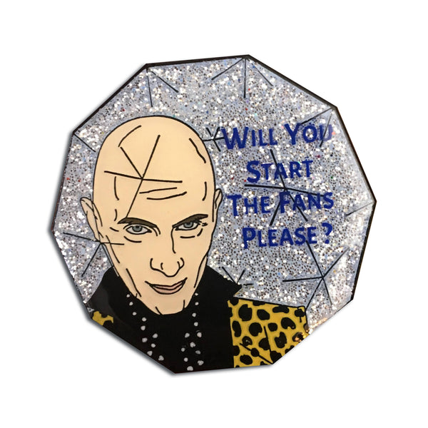 THE CRYSTAL MAZE will you start the fans please GLITTER quote richard o'brian 90s game show tv ENAMEL PIN by Cobalt Hill from LA LA LAND