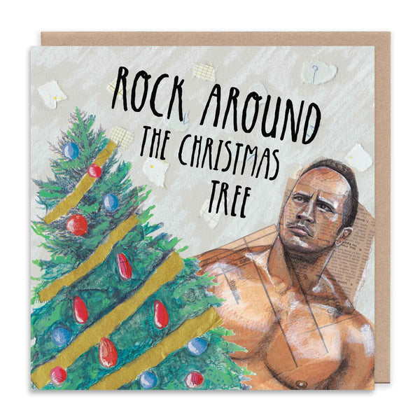(THE) ROCK AROUND THE CHRISTMAS TREE Christmas Greetings Card