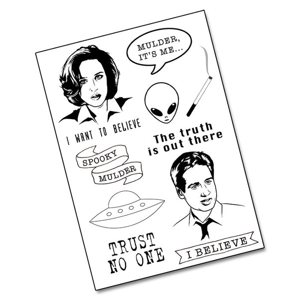 THE X-FILES Temporary Tattoo pack from LA LA LAND £5