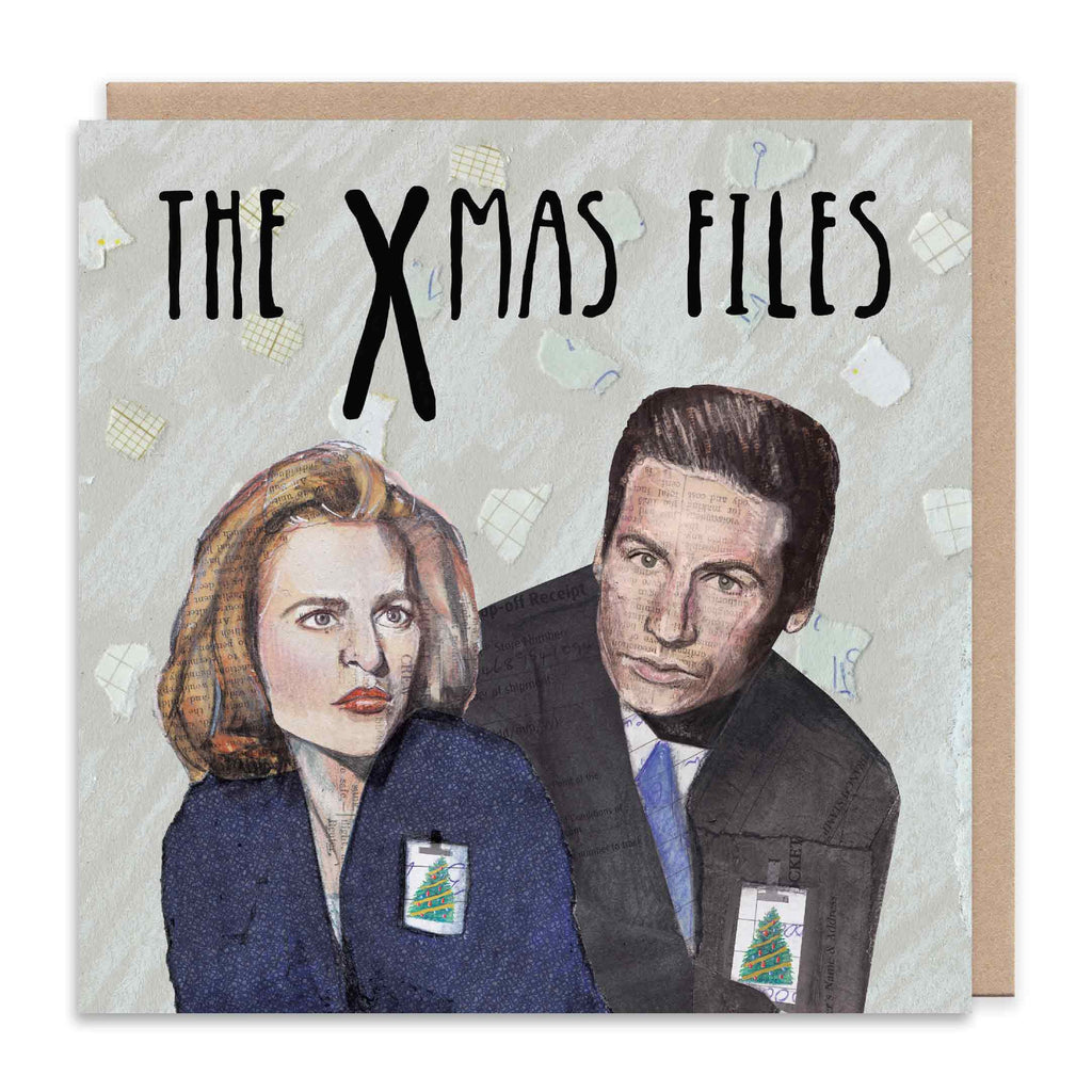 THE XMAS FILES Christmas Greetings Card