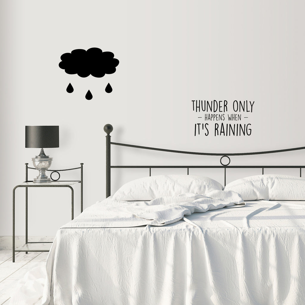 THUNDER ONLY HAPPENS WHEN ITu0027S RAINING Dreams Fleetwood Mac Lyrics BLACK  WALL DECALS By LA LA ...