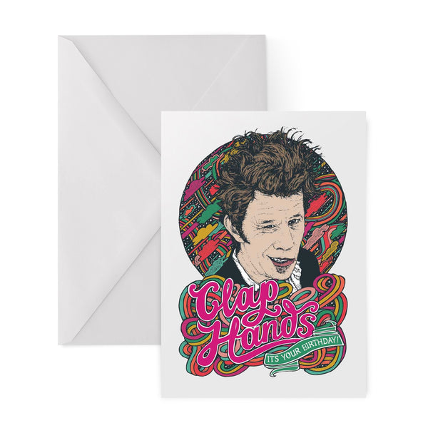 TOM WAITS clap hands lyrics greetings card by Lost Plots from LA LA LAND