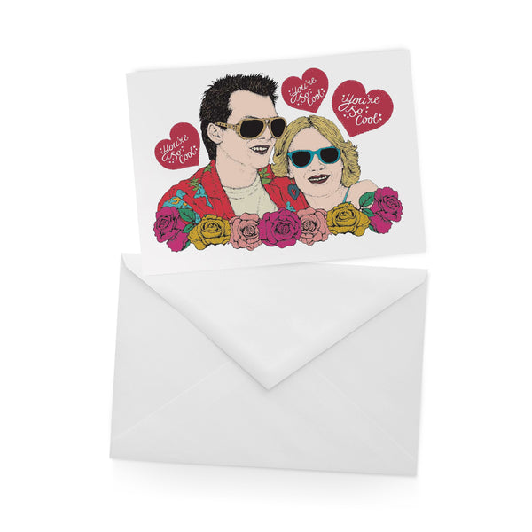 TRUE ROMANCE christian slater patricia arquette TONY SCOTT 90s greetings card by Lost Plots from LA LA LAND