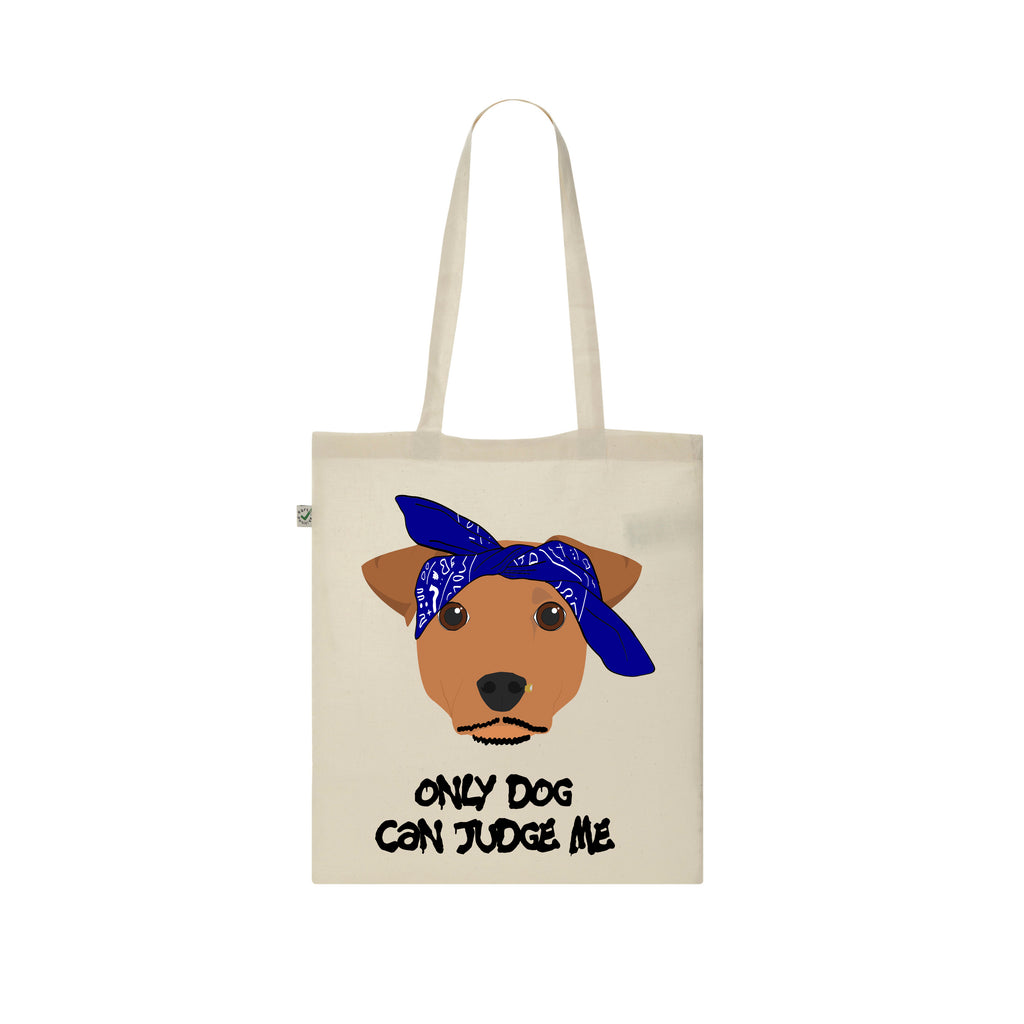 TUPAC 2pac ONLY DOG CAN JUDGE ME only god can judge me tote bag by Rogue Tigers