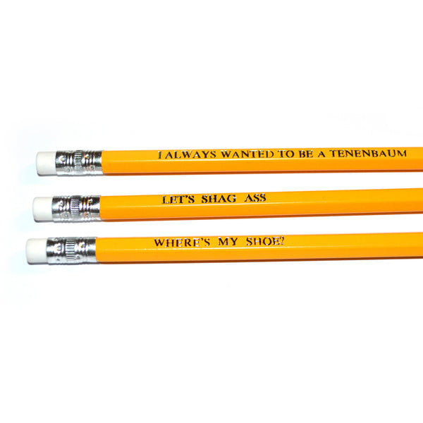 The Royal Tenenbaums hand stamped pencils by POPCULT from LA LA LAND