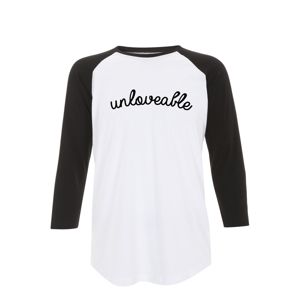 UNLOVEABLE baseball tee from LA LA LAND