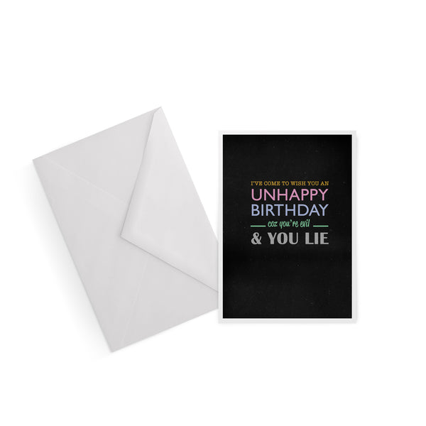 Unhappy Birthday The Smiths Morrissey lyrics greetings card from LA LA LAND