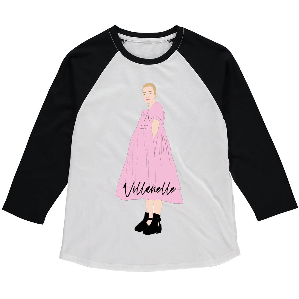 KILLING EVE VILLANELLE Raglan Baseball Tee