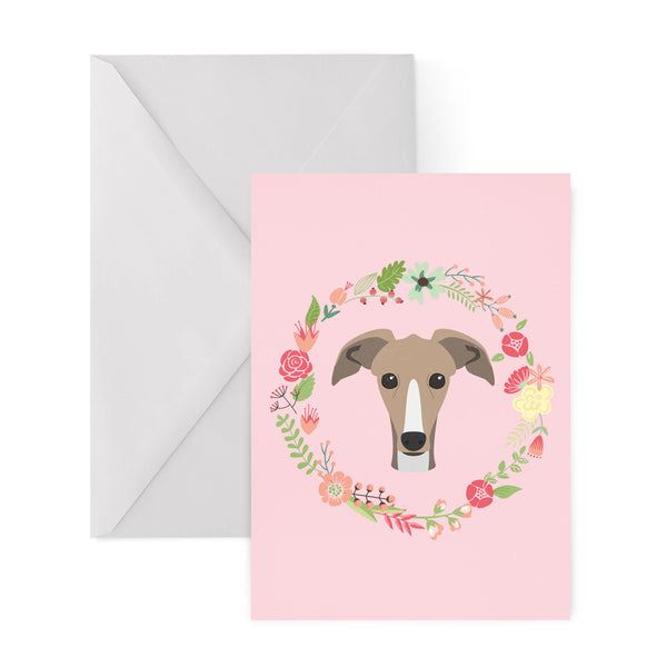 WHIPPET dog greetings card from LA LA LAND
