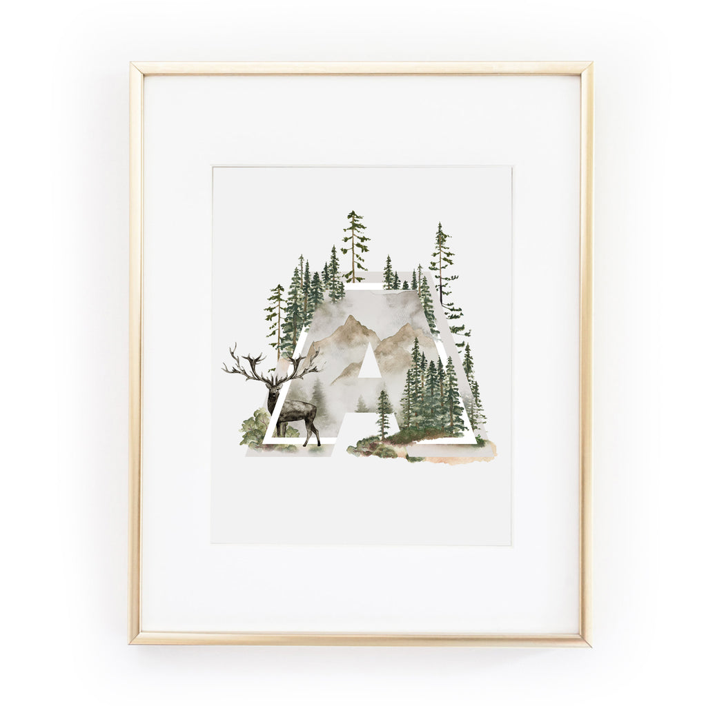 INTO THE WILD Alphabet Art Print