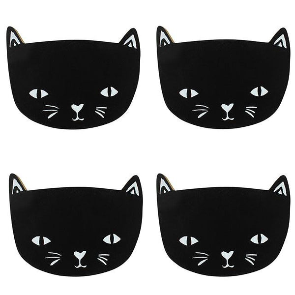 black cat coasters from LA LA LAND