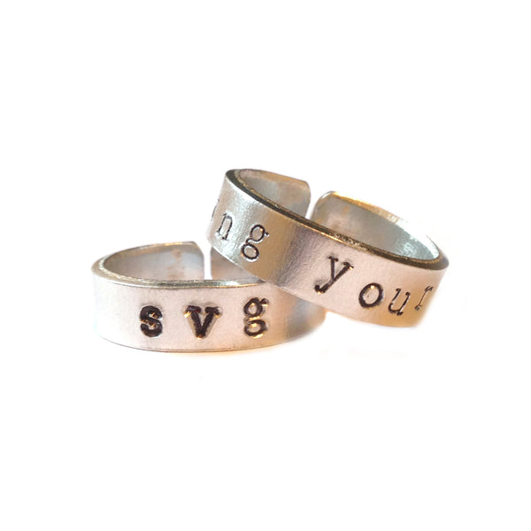 Custom Hand Stamped Rings from LA LA LAND