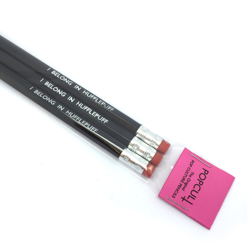 Custom personalised Hand Stamped Slogan POPCULT Pencil Set from LA LA LAND