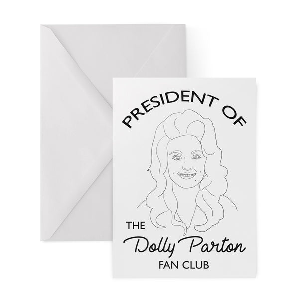 dolly parton fan club president greetings card from FAN CLUB PRESIDENT
