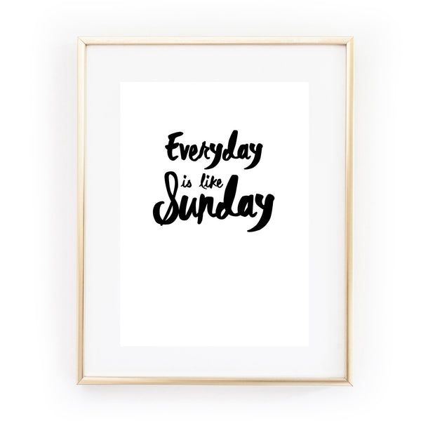 everyday is like sunday morrissey the smiths a4 art print from LA LA LAND
