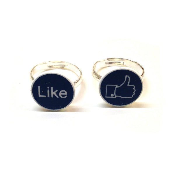 Social Media Facebook Ring Set