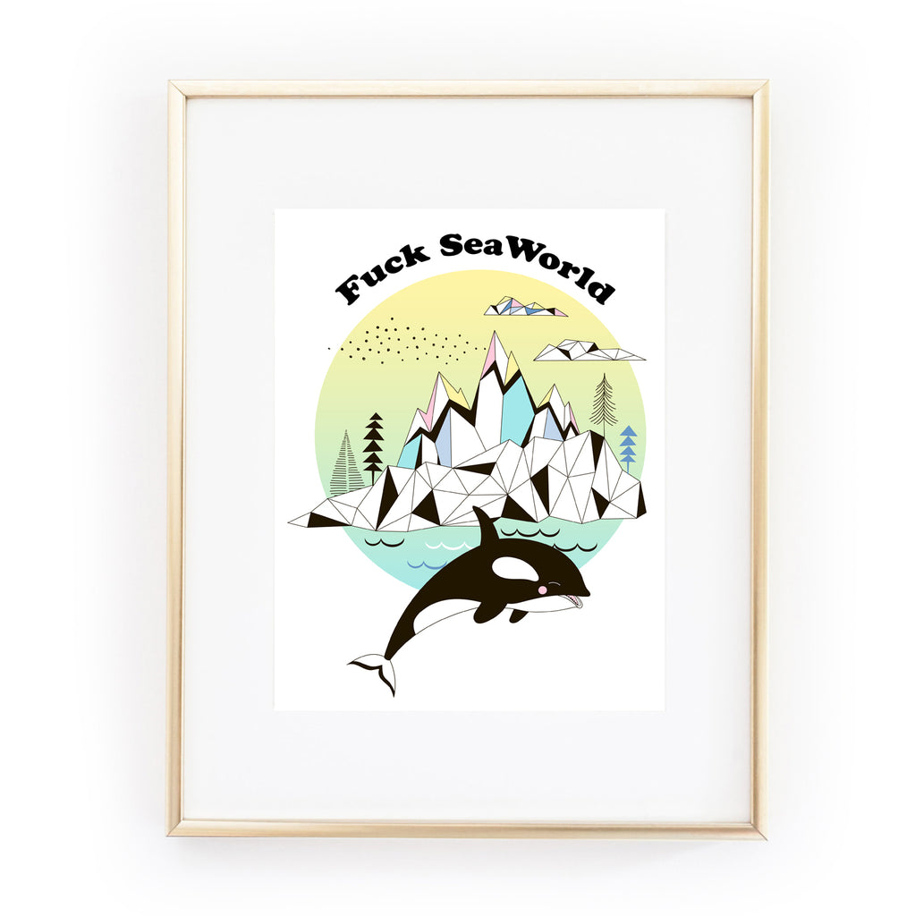 FUCK SEAWORLD Art Print