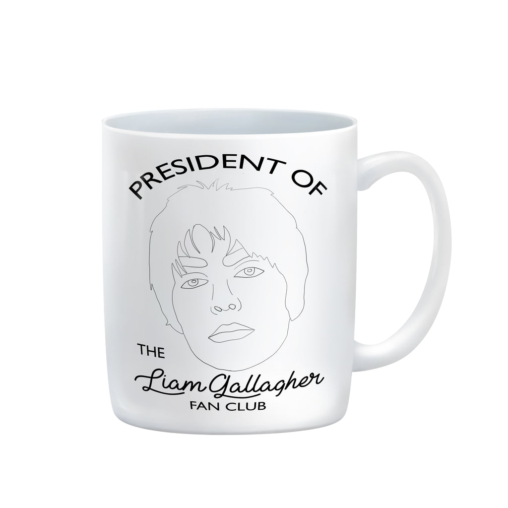 liam gallagher fan club president 11oz mug from FAN CLUB PRESIDENT