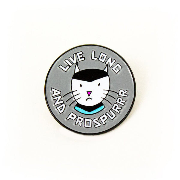 live long and prospurr CAT star trek ENAMEL PIN by Band of Weirdos from LA LA LAND