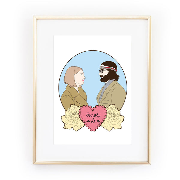 margot and richie royal tenenbaums art print from la la land