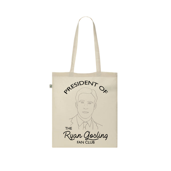 ryan gosling fan club president tote bag from FAN CLUB PRESIDENT