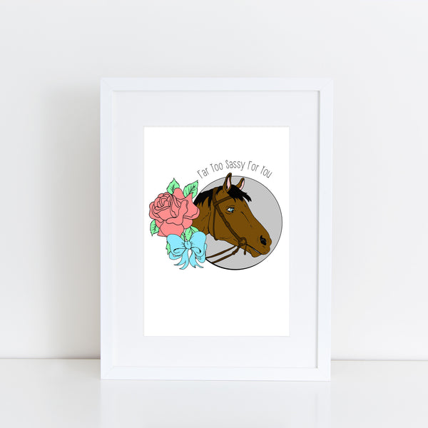 SASSY HORSE A4 ART PRINT FROM LA LA LAND