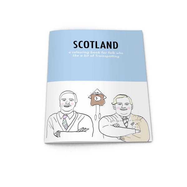 scotland pop culture colouring book from LA LA LAND