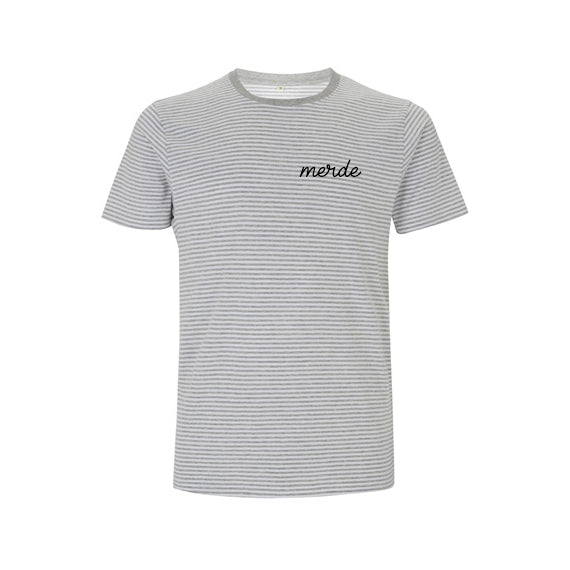 stripey MERDE shit french TEE from LA LA LAND