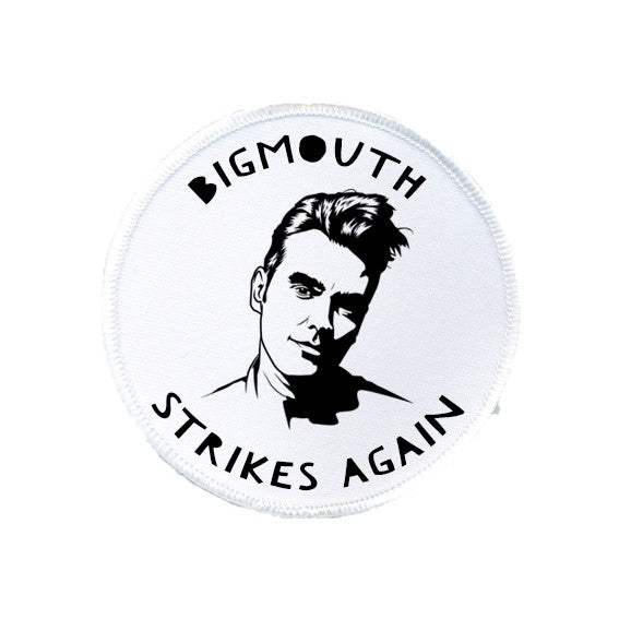 the smiths MORRISSEY Bigmouth strikes again patch from LA LA LAND