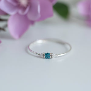 December Birthstone Bracelet-Round Crystal