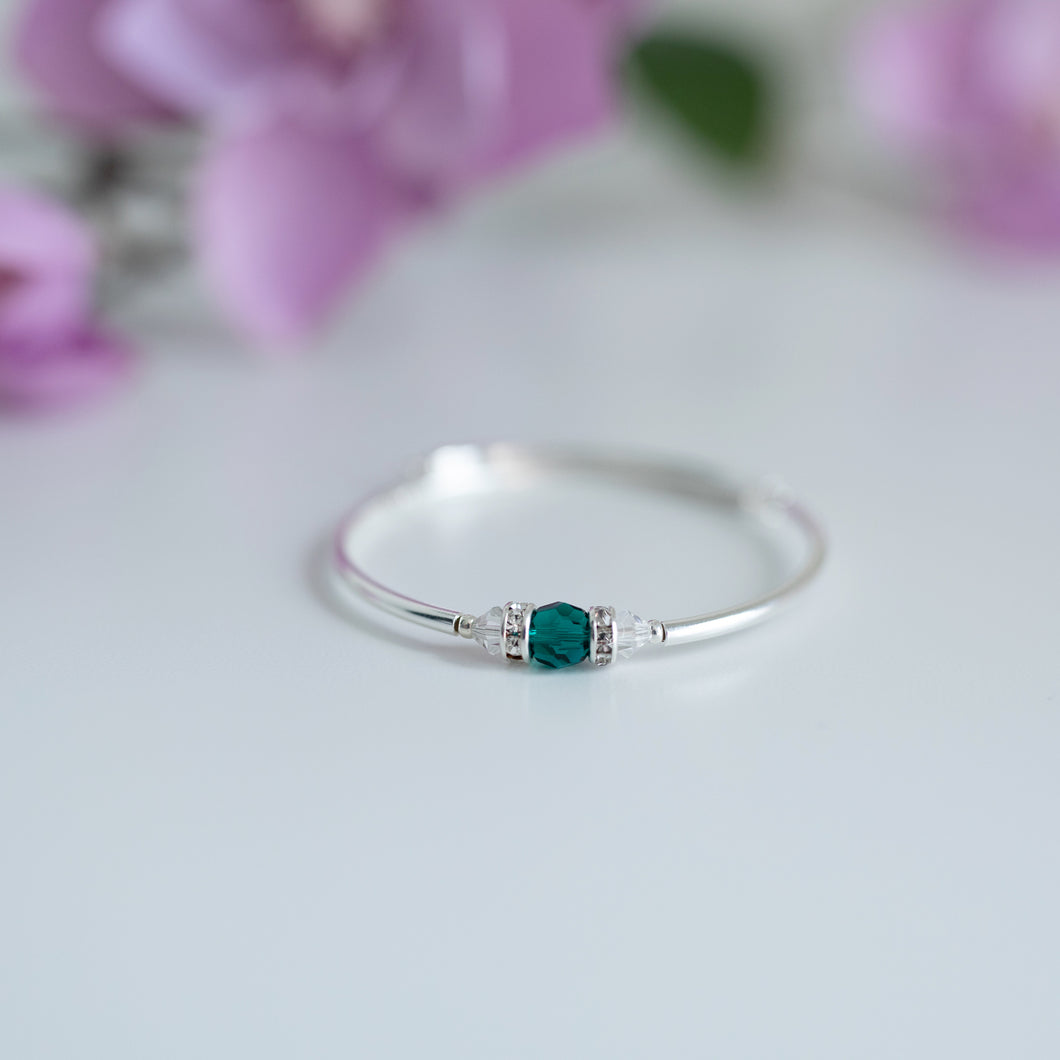 May Birthstone Bracelet-Round Crystal