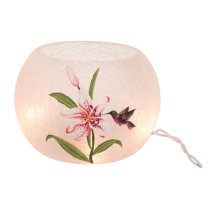 Hummingbird  with Lily Lamp