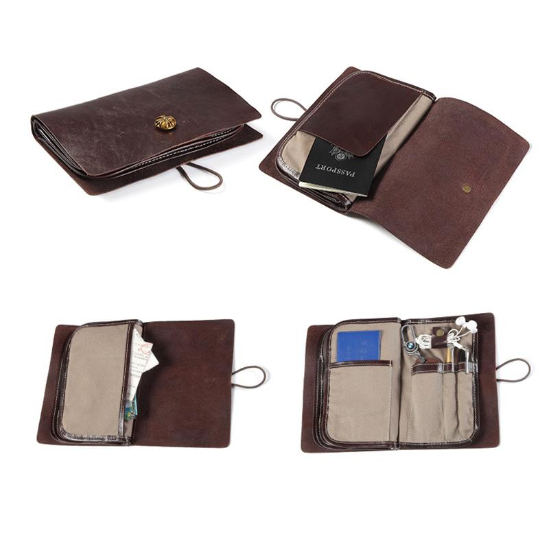 Unique Premium Cowhide Leather Retro Soft Wallet