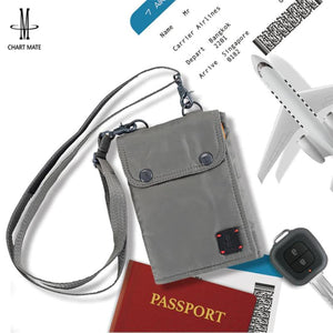RFID Blocking Stash Neck Wallet Travel Pouch Passport Holder